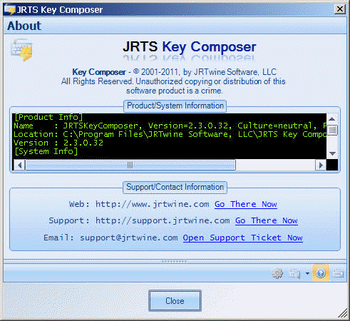 JRTwine Software - Key Composer